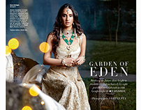 Garden of Eden for Harper's Bazaar Bride