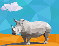 Low Poly Rhino