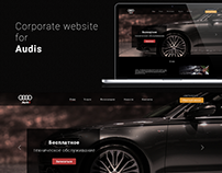 UX/UI design corporate website Audis