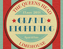 Queens Head Reopening