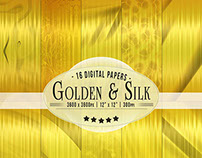Golden & Silk Wrapping Paper