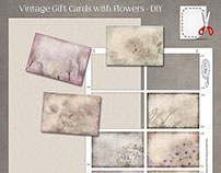Vintage Gift Cards with Flowers