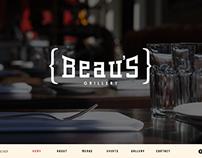 Beau's Bloomfield - Web Design