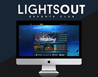 LIGHTS OUT - Esports/Gaming Web Arayüzü