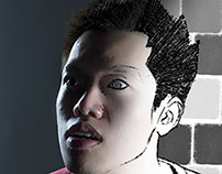Creative Self Portraits: Pixelated Shock