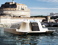 Designing a boat on the Tiber in Rome