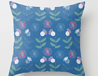 Thistles and Flowers pattern design