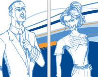JetBlue Poster Design