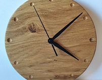 American Oak Wall Clock