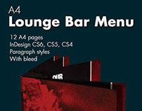 Lounge Bar Menu