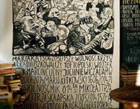 Cafe Fikcja Wall Painting / B. Polak, K. Ponieważ