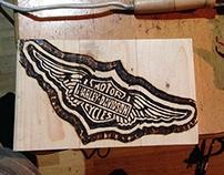 Harley Davidson - Pyrography