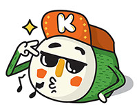 Kimbab Boy | Emoticons for Kakaotalk
