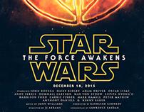 Star Wars: The Force Awakens Poster Design