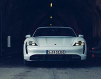 Porsche Taycan with Aksel Lund Svindal.
