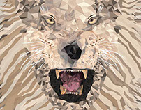 Geometric Animal Project - Lion 02