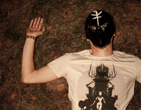 'Oh my Dark Queen, hunt me down' t-shirt for Funkorps
