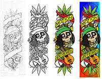 ihsan KL x Motion Skateboards - 1/3 Roots/Reggae Series