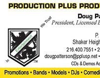 Production Plus Productions Biz Card