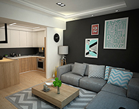 small flat big space