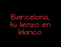 Barcelona, tu lienzo en blanco