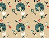 Wolf + Rabbit Pattern Set