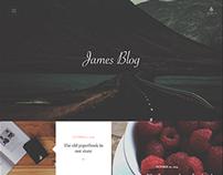 James Blog - Clean, Simple Personal WordPress Blog
