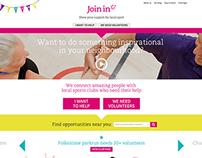 Join In website design