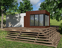 Square cut small house