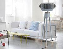 Floor standing fan design