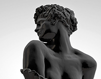 CLYTIE Remastered Digital Sculpture at V&A London, UK