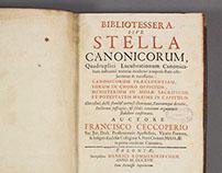 Bibliotes Sera Sive Stella Canonicorum 1717