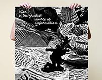 "Poster ""Information War"" - Virtual Biennale Prague 2014"