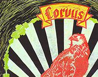 Corvus Linoleum Poster 50*70