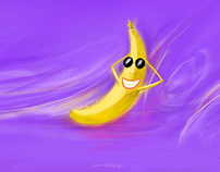 Funny banana Wallpaper (free)