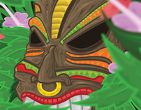 Tiki Mask- Illustration