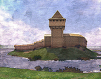 3D reconstruction of the Vyzhva castle