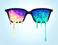 Psychedelic Nerd Glasses x Melting Color Triangles