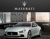 Maserati Russia. Main page concept