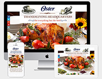 Oster Thanksgiving Splash Page
