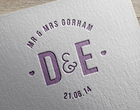 Mr & Mrs Gorham - Wedding Stationery