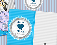 "Wedding Card "" Karim & Mirna """
