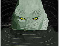 Creature from the Black Lagoon vector portrait