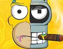 Fan Art : Homer x Bender