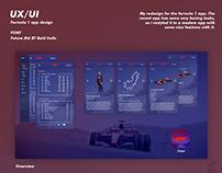 Formula 1 App Redesign | UX/UI