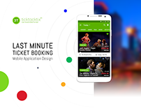 Ticktocktix UI/UX - Event Ticket Booking Mobile App