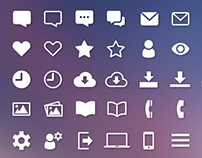 Web Interface Icon Set - Freebie (PSD)