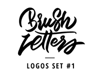 Brush letters - Logo set #1