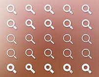 Search Icon Set - Freebie (PSD)
