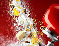 Christmas Cake Dough Mixing - SMEG